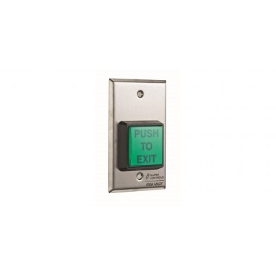 "Alarm Controls U.L. 2"" SQ.GREEN ILLUMINATED PUSH BUTTON"