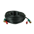 Pre-made Siamese Cable with Connectors - 100ft Black