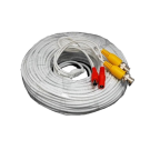 Pre-made Siamese Cable with Connectors - 125ft White