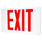 LED Exit w/Battery Backup Red Letters 120/277V