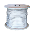 Coaxial Siamese Cable w/o Connectors - 1000ft White